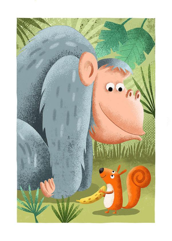 Le gorille et l'écureuil