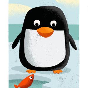 le pingouin et le poisson